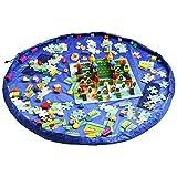 Busta per giocattoli, Organizzatore con Coulisse Lego Tappeto Spalla Oversize Tappetino Impermeabile per Picnic e Giochi per Neonati Dimensioni - 150cm (Blu) [Classe di efficienza energetica A++] (Blu)