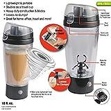 YFXOHAR Sports Nutrition Protein Shaker Bottle/Vortex Mixer/Electric Stirring Mixer For Powder Shake (450ml / 16oz, Silver)