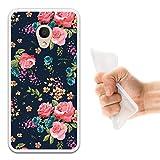 WoowCase Alcatel 1C DUAL SIM Hülle, Handyhülle Silikon für [ Alcatel 1C DUAL SIM ] Vintage Blumen Rosen Handytasche Handy Cover Case Schutzhülle Flexible TPU - Transparent