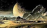 FORWALL VLIESFOTOTAPETE Fototapete Tapete Wandbild Vlies | Welt-der-Träume| Mars Landung | VEXXL (312cm. x 219cm.) | Photo Wallpaper Mural 2806VEXXL-AW | Planeten Kosmos Sterne Weltraum Raum Mars