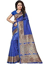 [Sponsored]Women's Poly Silk Printed Festive Wear Saree