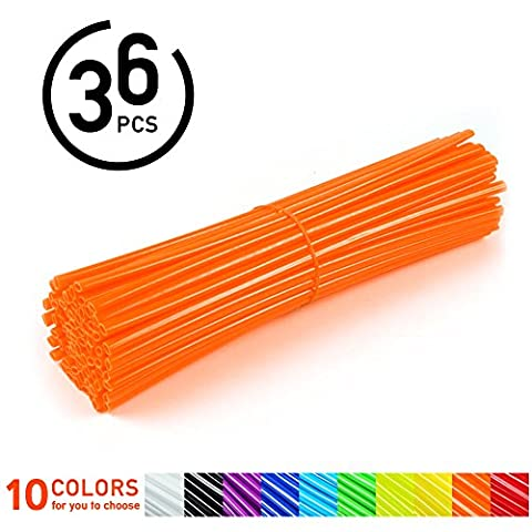 36pcs Couvres Rayons Moto Spokes Skins Set Protections Universelles Pour