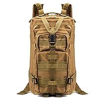 Benbroo 45L Military Outdoor Multi-function Trekking Backpack Waterproof Large Capacity Shoulder Bag Combat Pack for Traveling/Hiking/Hunting/School (Khaki)