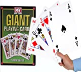 A4 Giant Jumbo Plastic Coated Playing Cards Deck 28 cm Outdoor Garden Family Party BBQ Game