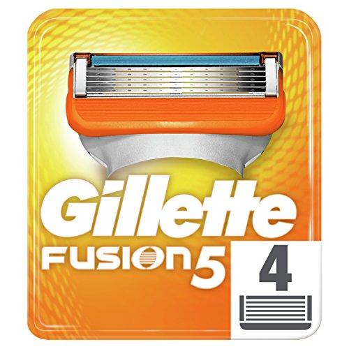 Gillette Fusion - Recambios de maquinilla de afeitar para hombre - 4 recambios