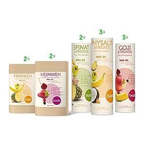 BUAH® SMOOTHIE-SPORT-KORB | gefriergetrocknete Früchte & Superfoods für leckere Früchte-Smoothies und gesunde Snacks zwischendurch | 100% Frucht | 0% Zusätze | Healthy Snacks