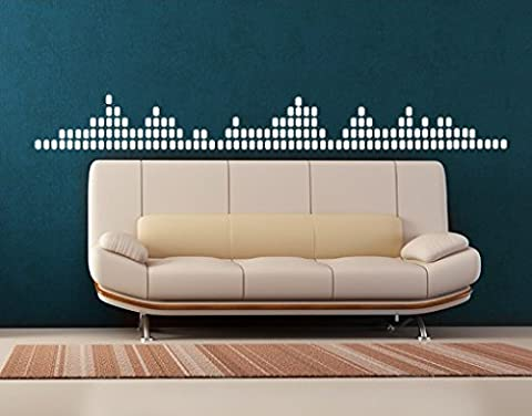 Wall Decal no.KP35 Equalizer, Colour:Green;Dimensions:30cm x 261cm
