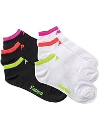 Lot de 6 paires de chaussettes tige courte Kappa avec logo et bord fluo