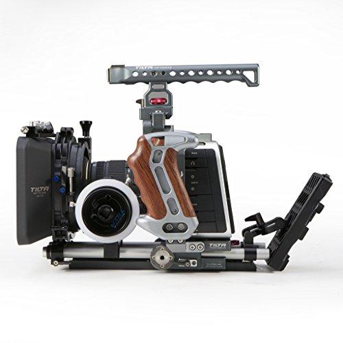 Tilta TT-BMC-05 BMC05 Blackmagic Cinema Camera Blackmagic Production Camera Cage For BMCC BMPC 4K Shoulder Rig Cage 15mm Rod + FF-T03 Follow Focus + shoulder Pad + 4*4 MB-T05 Matte Box + BT003A V-Mount Battery Plate Power Supply