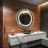 FORAM Design Badspiegel mit LED Beleuchtung Wandspiegel Badezimmerspiegel Nach Maß (Durchmesser: 40cm)