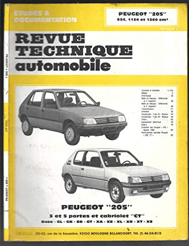 REVUE TECHNIQUE AUTOMOBILE - PEUGEOT 205 par