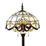 Gweat 16-Zoll-Europäischen Barock Tiffany Stehlampe Wohnzimmerlampe
