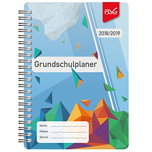 FLVG Grundschulplaner A5 - Schuljahr 2018-2019 - Cover: Geometrische Figuren