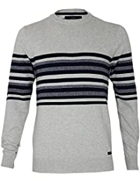 hommes Threadbare ras de Cou Fin pull tricot Pull-over à Rayures Pull 100% coton