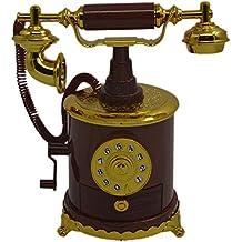 Teléfono mano manivela antigua caja de música personalizada regalos hogar artículos de decoración