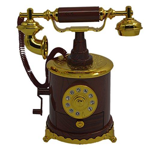 Teléfono mano manivela antigua caja de música personalizada regalos