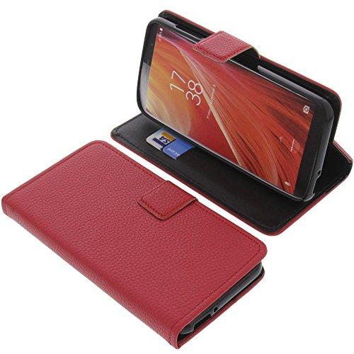 foto-kontor Tasche für HomTom S7 Book Style rot Schutz Hülle Buch