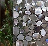 Amageek Dekorative Statische Fensterfolie, Buntglas Fensterbehang, Sichtschutz Vinyl Film Keine Rückstände, Hitze Kontrolle, UV-Prävention, Einfache Entnahme, 17,7von 199,9cm