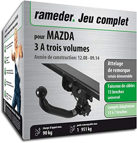 Rameder Attelage rotule démontable pour Mazda 3 A Trois volumes + Faisceau 13 Broches (161223-08037-1-FR)