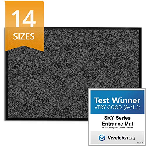 Etm Dirt Trapper Mat Sky 15 Sizes Available Anthracite Mottled 90x150cm