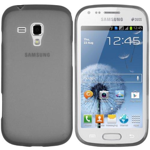 mumbi TPU Silikon Schutzhülle Samsung Galaxy S Duos / S Duos 2 Hülle transparent schwarz