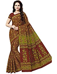 Vinay's Women's Pure Cotton Saree With Blouse Piece (KalamkariNX - Multicolour)