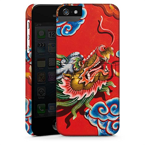 Apple iPhone X Silikon Hülle Case Schutzhülle China Drache Muster Premium Case StandUp