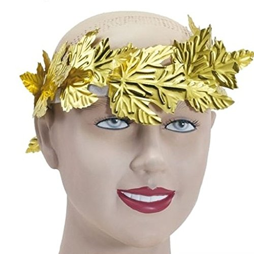Gazechimp Lorbeerkranz golden Gold Cäsar Römer Olympia Sieger Karneval Party Kostüm (Griechischen Olympia Kostüm)