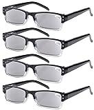 4-pack Spring Hinges Rectangular Reading Glasses Sun Readers - Best Reviews Guide
