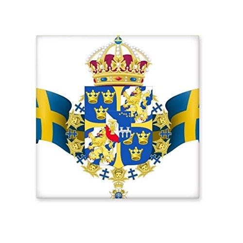 DIYthinker Schweden National Emblem Land Symbol Mark Muster Keramik Bisque Fliesen für Dekorieren Badezimmer-Dekor Küche Keramische Fliesen Wandfliesen M Land Küche Dekor