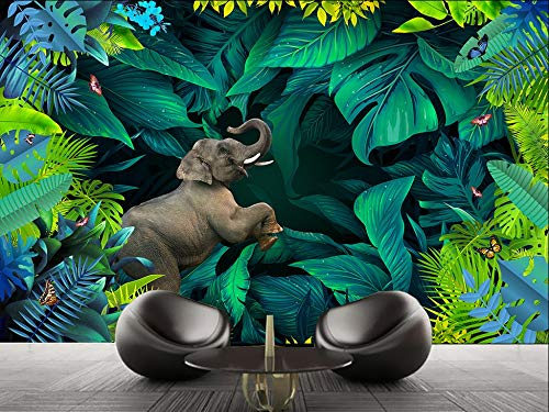 Gewohnheit Irgendeine Größe Tropischer Regenwald Anlage 3D Stereo Landschaft Tv Hintergrund Wand Dekorative Malerei Wandaufkleber Ausgangsdekor Tapete Wandbild (Anlage Fairy Garden)