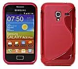 Samsung Galaxy ACE Plus S7500 Tpu Silikon Hülle Schutzhülle Silikon Pink