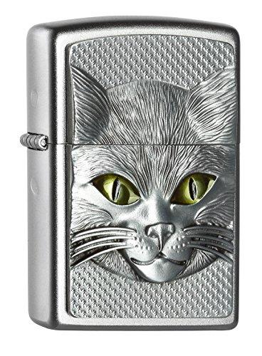 Von Wilden Arten Katzen Mit (Zippo 2.004.665 Feuerzeug Cat Eyes, Spring 2015, satiniert)