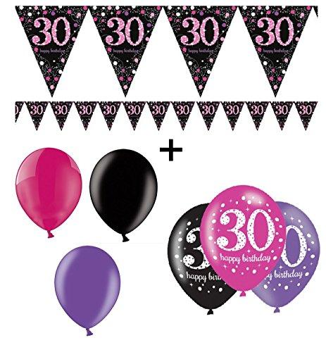 Preisvergleich feste feiern geburtstagsdeko zum 30 Deko 30 geburtstag pink
