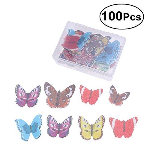 00 Butterfly Cake und Cupcake Toppers Food Dekoration sortierte dekorative Wafer Papier Schmetterlinge ()