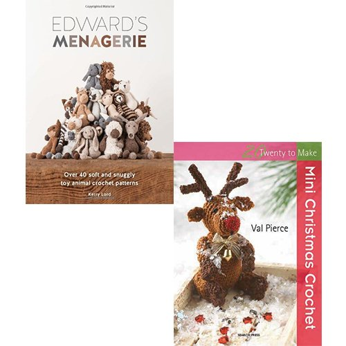 Crafts Collection 2 Books Set Pack (Edward's Menagerie, Mini Christmas Crochet Book)
