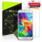 wsiiroon Schutzfolie für Samsung Galaxy S6, [2 Stück] Displayschutzfolie - 9H Härte, Anti-Kratzen & Anti Fingerabdruck, Blase Frei, Ultra HD ausgeglichenes Schutzglas für Samsung Galaxy S6