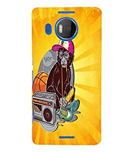 PrintVisa Cool Boy 3D Hard Polycarbonate Designer Back Case Cover for Nokia Lumia 950 XL