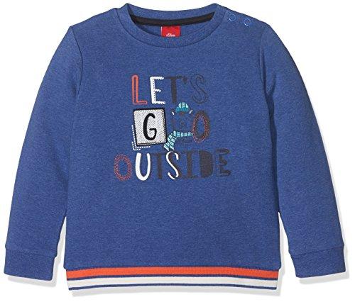 s.Oliver Baby-Jungen Sweatshirt 65.710.41.3149, Blau (Blue Melange 55W0), 80 (Blau Sweatshirt Baby)