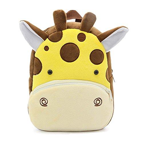MISM Mini Zaino Della Peluche Animale Della Scuola Materna Del Bambino Dello Zaino (Giraffa)