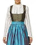 Bluse, Dirndlbluse, Gr. 36/38 Kann auch ohne Dirndl getragen werden, weiß, Baumwolle/Polyester, Spitze lange Ärmel, super modern, tolles Geschenk, lange Bluse, extravagant, Tracht, Trachtenbluse