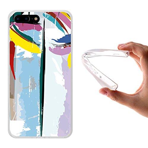 iPhone 7 Plus Hülle, WoowCase Handyhülle Silikon für [ iPhone 7 Plus ] Astronaut Gay Flagge Handytasche Handy Cover Case Schutzhülle Flexible TPU - Transparent Housse Gel iPhone 7 Plus Transparent D0334