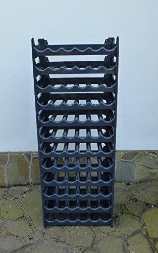 Weinregal / Flaschenregal für 72 Flaschen anthrazit stapelbar / Wand / Keller / Qualität Made in EU
