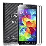 [Lot de 2] Verre Trempé pour Samsung Galaxy S5, Yokimico Protection écrans Film Protection en Verre Trempé Ultra Résistant pour Samsung Galaxy S5