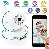 KKmoon HD 0.3MP Webcam IP Cámara de red PnP P2P Pan Tilt IR Cut WiFi