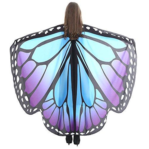 TIFIY Schmetterlings-Flügel-Schal Damen-Halloween-Schmetterlings-Tanz CostumeParty Cosplay Schals-Kostüm-Zusatz vertuschen Kleidung 168 * 135CM