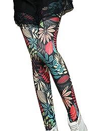 Guiran Mujer Yoga Leggings Hojas Estampados Push Up Leggins Jeggings Skinny  Pantalones De Cintura Alta Estilo2 e10fbb2e9851