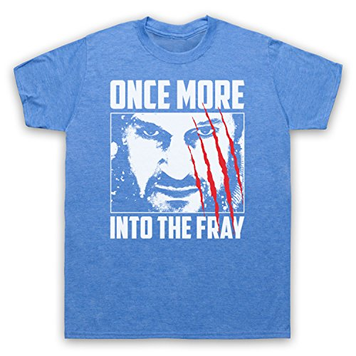 Inspiriert durch The Grey Once More Into The Fray Unofficial Herren T-Shirt Jahrgang Blau