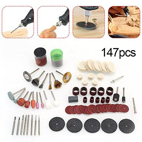 Preisvergleich Produktbild Elektrische Grinder Kit, 147PCS Elektrische Grinder Teile Hardware Tools Fabriken Schleifen Polieren Zubehör Polierer Kit