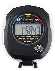 Digital Stoppuhr Multifunktion Taschenuhr Stopp Kompass Kalender Alarm Chronograph #445